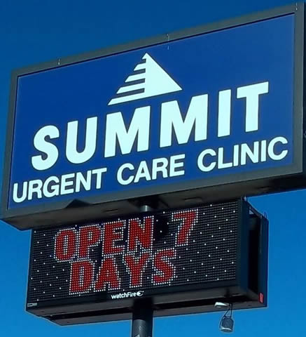 Summit Urgent Care, Open 7 days a week